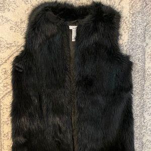 Bar III Long Faux Fur Vest